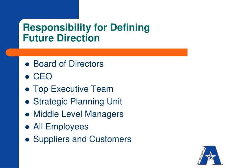 Responsibility for Defining