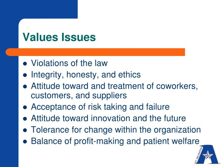 Values Issues