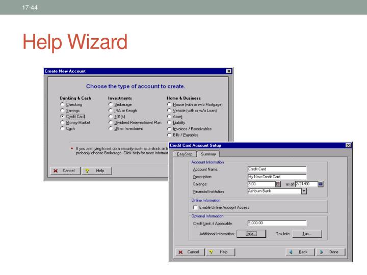 Help Wizard