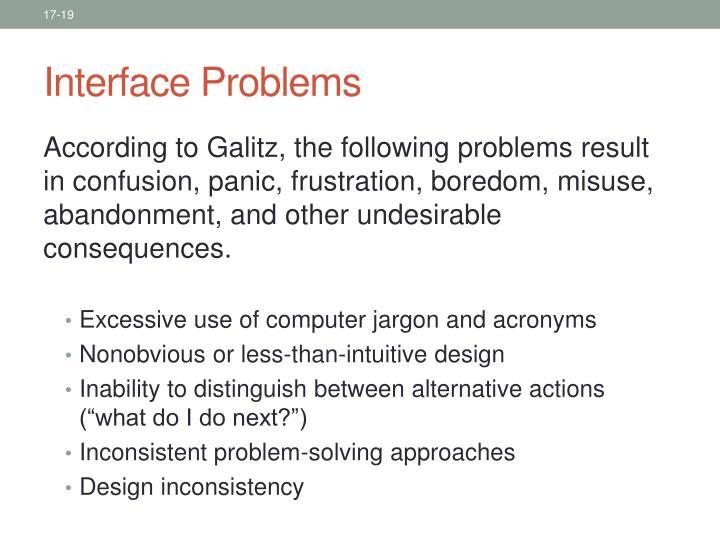 Interface Problems