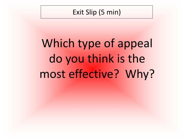 Exit Slip (5 min)
