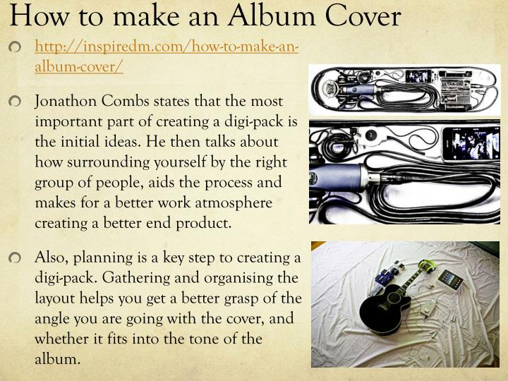How to make an Album Cover