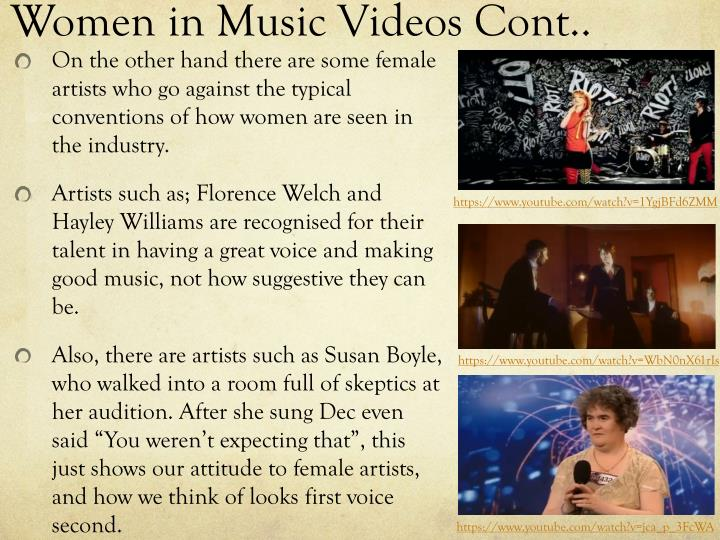 Women in Music Videos Cont..