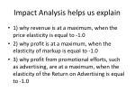 impact analysis helps us explain
