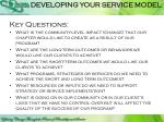 developing your service model