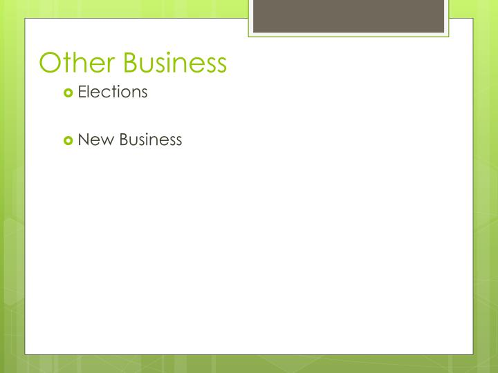 Other Business