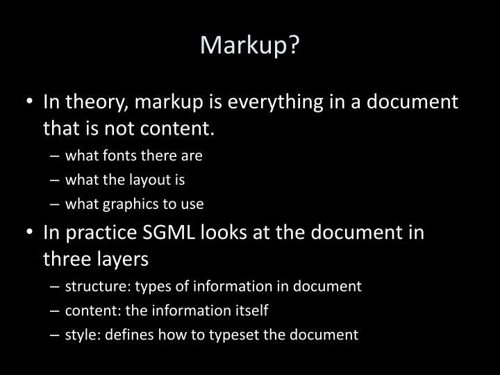 Markup?