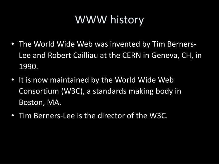 WWW history
