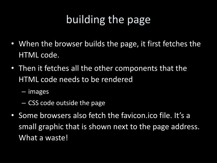 building the page
