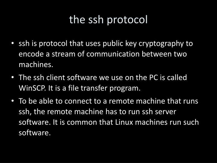 the ssh protocol