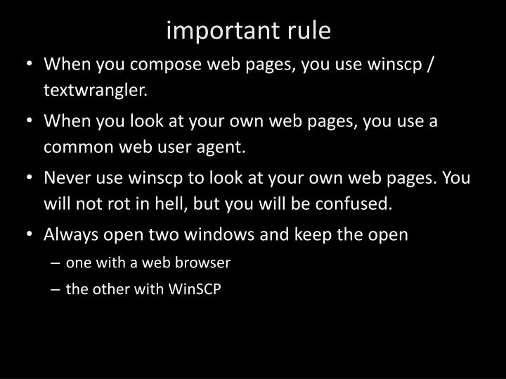 important rule