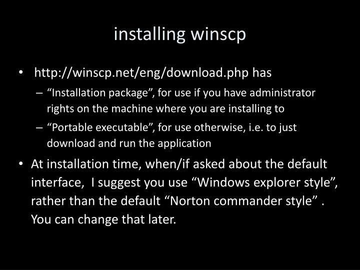 installing winscp