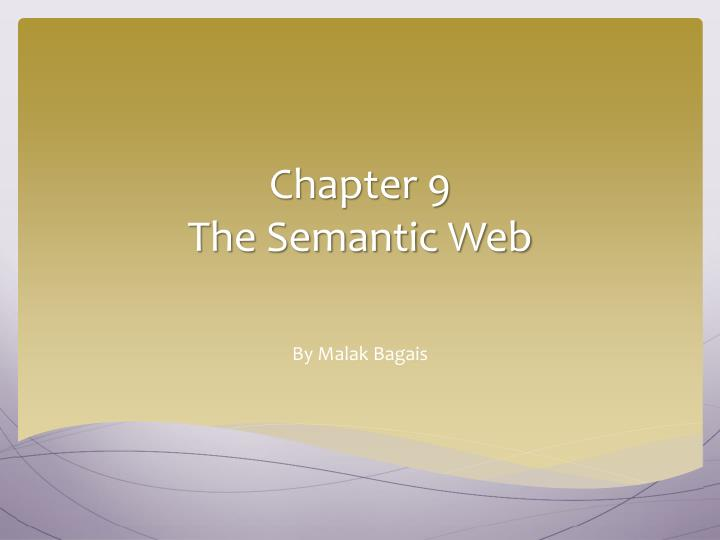 chapter 9 the semantic web n.