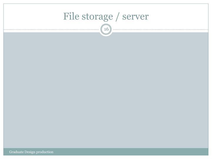 File storage / server