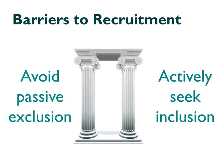 Barriers to Recruitment