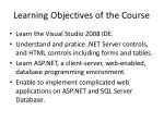 learning objectives of the course