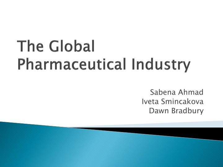 the global pharmaceutical industry n.