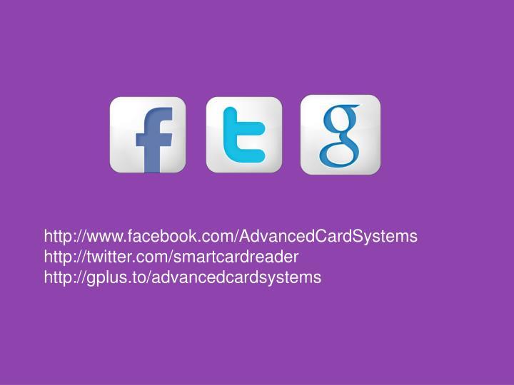 http://www.facebook.com/AdvancedCardSystems