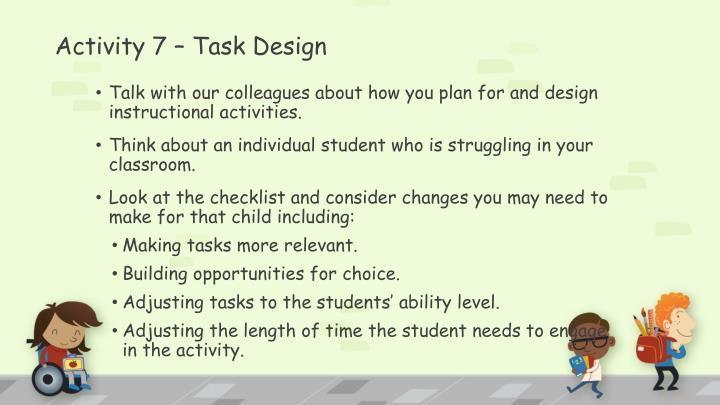 Activity 7 – Task Design