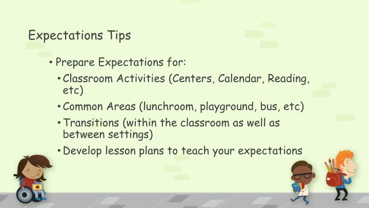 Expectations Tips