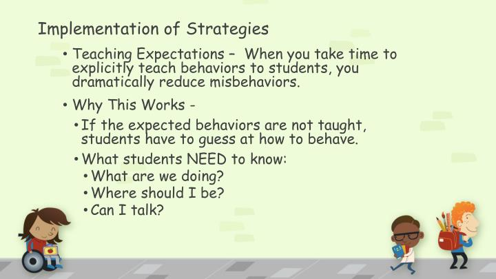 Implementation of Strategies