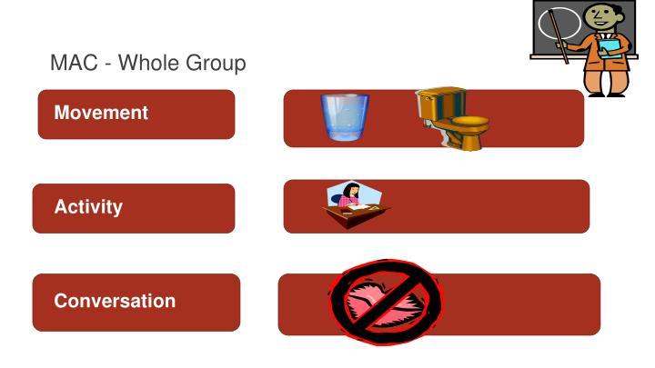 MAC - Whole Group