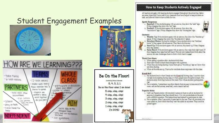 Student Engagement Examples