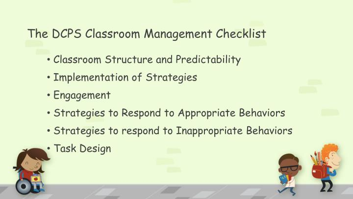 The DCPS Classroom Management Checklist