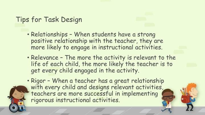Tips for Task Design