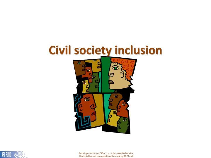 Civil society inclusion