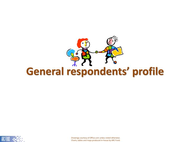 General respondents' profile