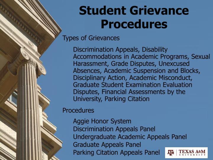 Student Grievance Procedures