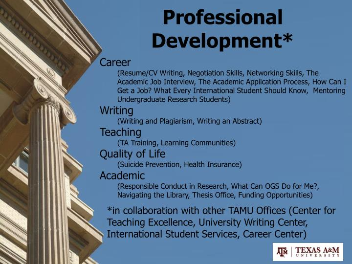 Professional Development*