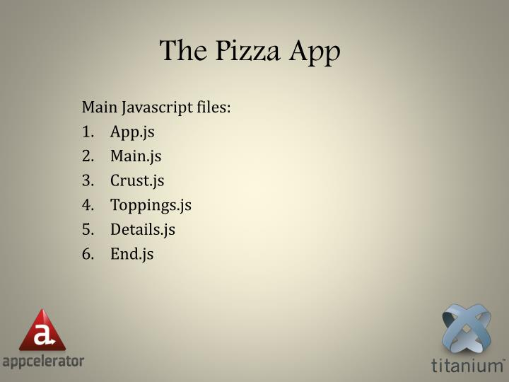 The Pizza App