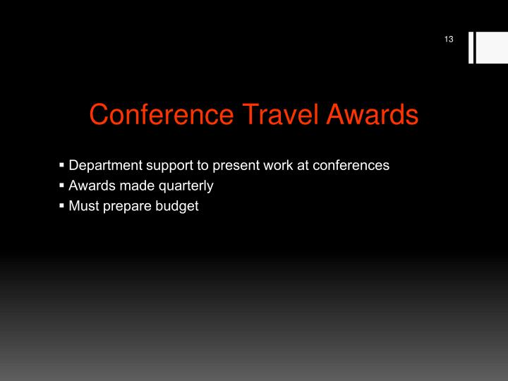 Conference Travel Awards