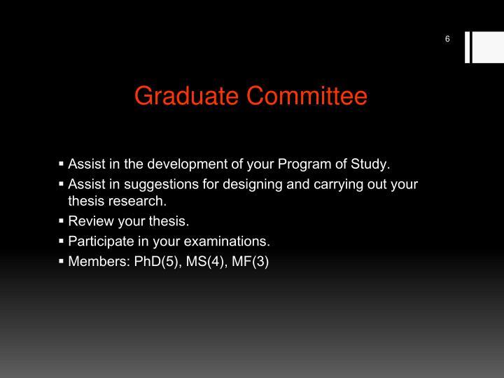 Graduate Committee