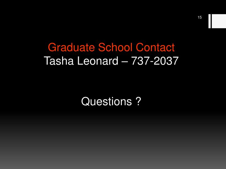 Graduate School Contact
