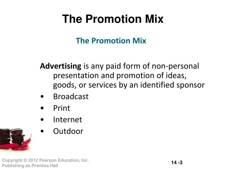 The promotion mix1