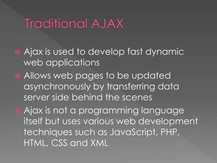 Traditional ajax1