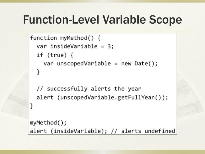 Function-Level Variable Scope