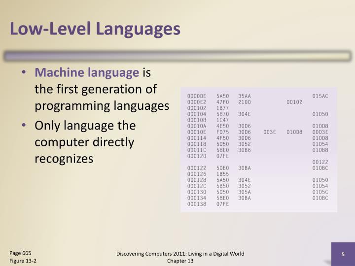 Low-Level Languages