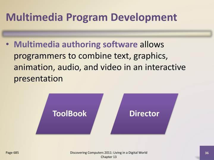 Multimedia Program Development