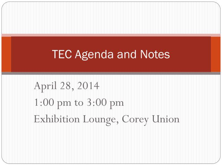 tec agenda and notes n.