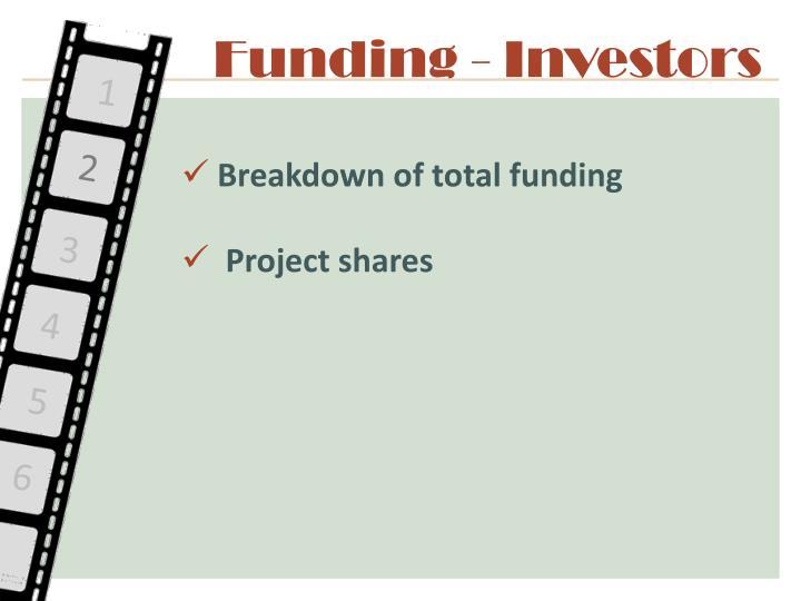 Funding - Investors
