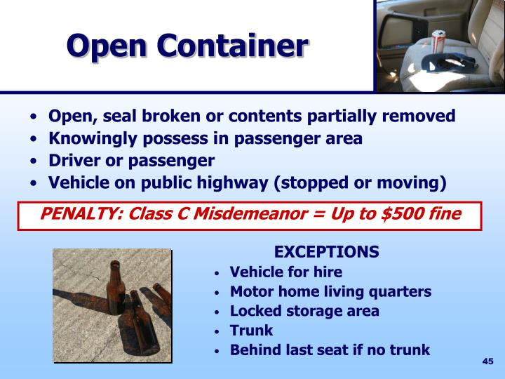 Open Container