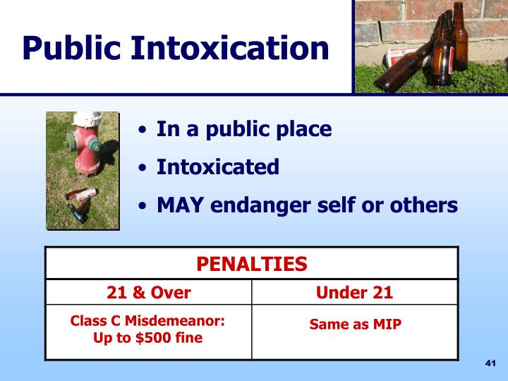 Public Intoxication