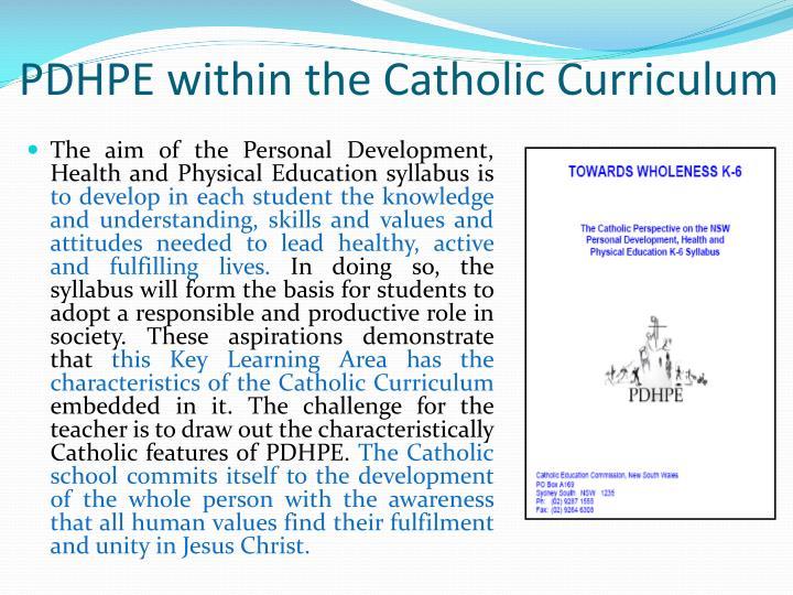 PDHPE within the Catholic