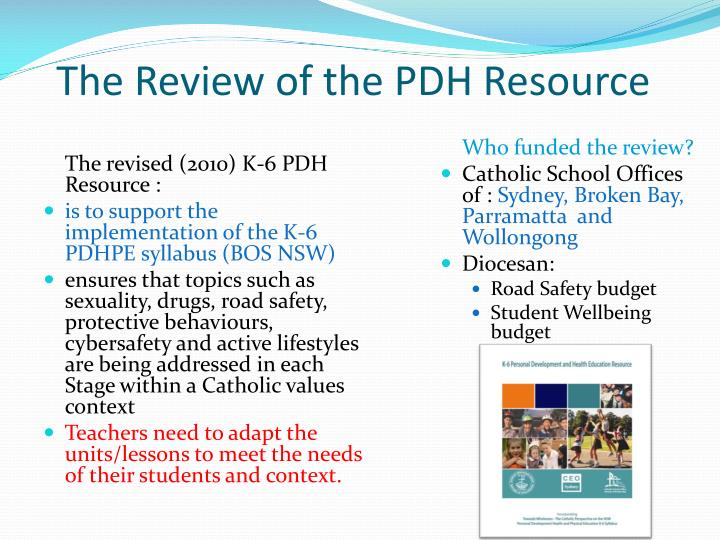 The Review of the PDH Resource