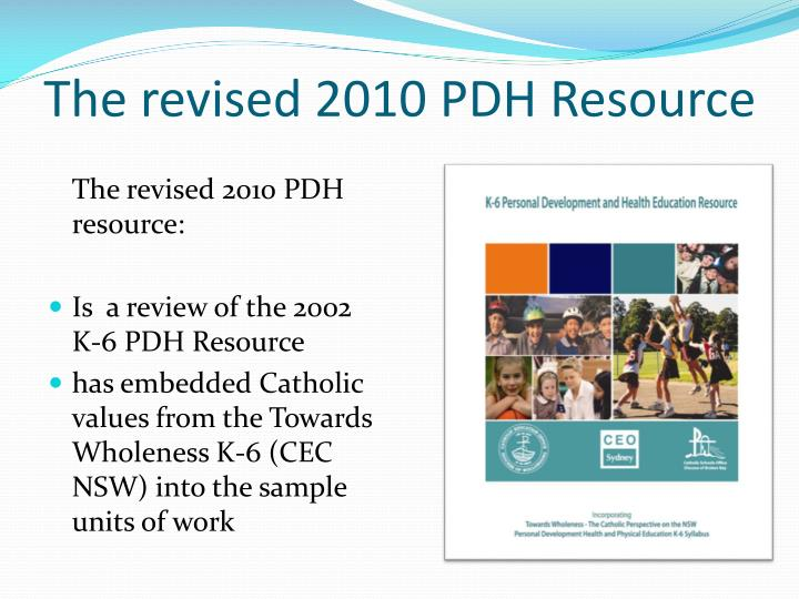The revised 2010 PDH Resource