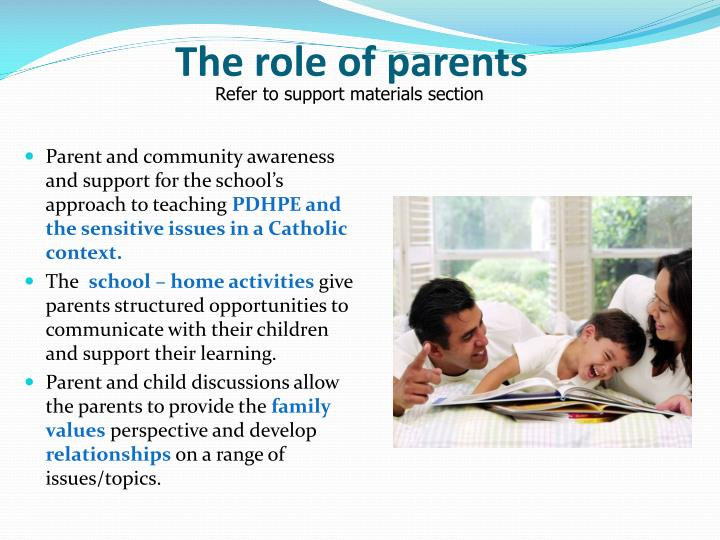 The role of parents